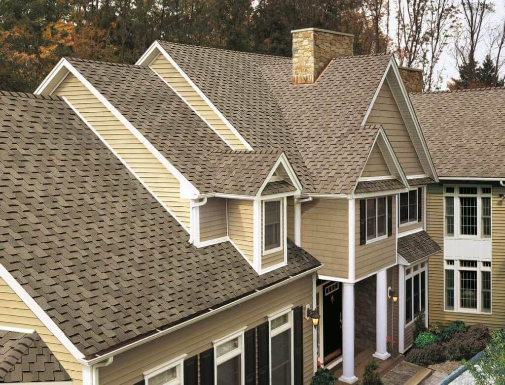 Close up view of new Asphalt shingles installed on Roof in Lancaster, PA