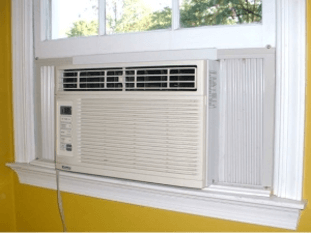 Air Condition Installed in New Replacement Window