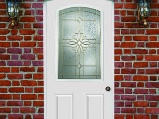 Installation of new custom half glass door in Lancaster PA