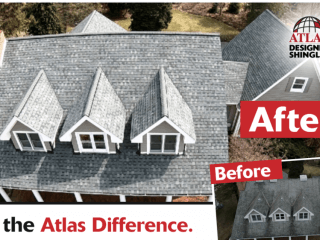 Before and After Image of New Atlas Roof Replacement