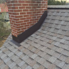 Close up of a new roof replacement in Lancaster, PA