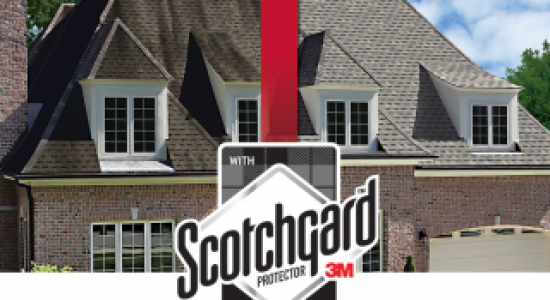Before And After Image Of New Roof Replacement With Atlas Scotchgard 3M Shingles Protector
